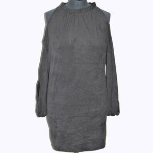 Kensie Tunic Dress Gray Cold Shoulder Extra Small